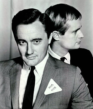 Robert Vaughn - Vaughn as Napoleon Solo with David McCallum as Illya Kuryakin