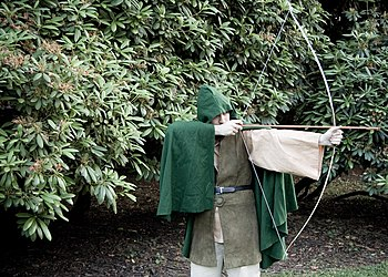Man dressed as Robin Hood.