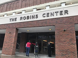 Robins Center - The lower level entrance to the Robins Center in December 2018.