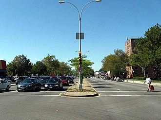Rockaway Parkway - Rockaway Parkway at Skidmore Avenue