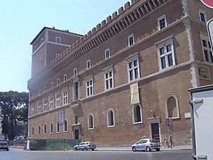 Palazzo Venezia - Facade facing Piazza Venezia.