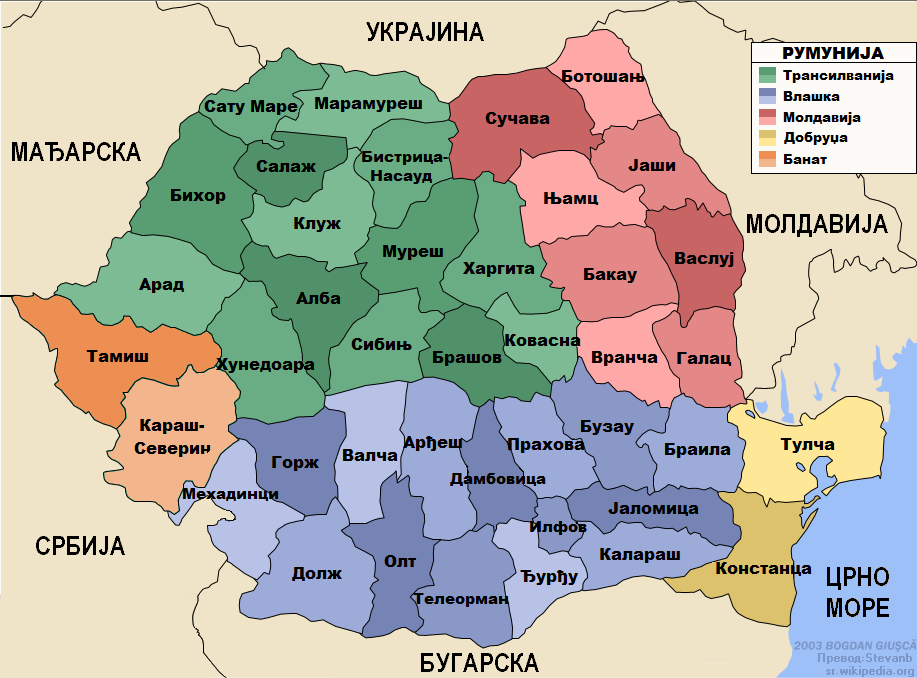 Romania administrative map