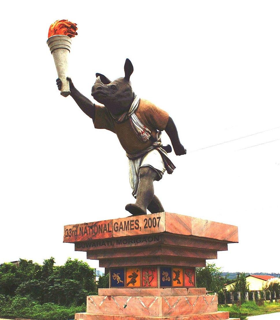 Rongmon Statue at Sorusajai Stadium