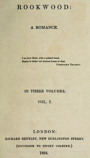 <i>Rookwood</i> (novel) 1834 novel by William Harrison Ainsworth