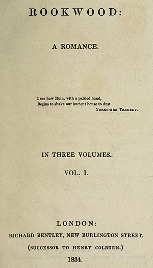 Rookwood (novel) - First edition title page