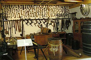 Cooper (profession) - Cooper's workshop, Roscheider Hof Open Air Museum
