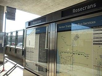 Rosecrans station - Image: Rosecrans Metro Silver Line Station 6