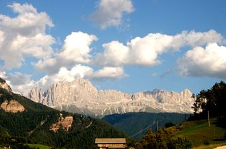 Trentino-Alto Adige/Südtirol - View of the Rosengarten group in South Tyrol
