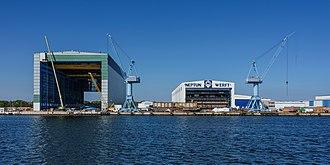 Neptun Werft - View of the shipyard