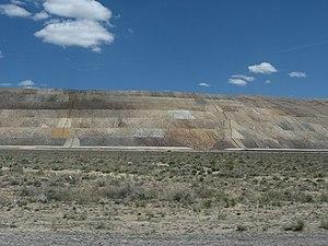 Round Mountain, Nevada - Round Mountain gold mine, heap-leach pads, 2008