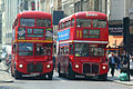 Routemaster buses RML2724 (SMK 724F) and RML2680 (SMK 680F), Routes 23 & 11, Strand, London.jpg