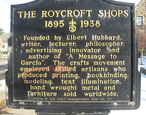 English: Roycroft Sign, East Aurora