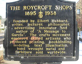 Sign About Elbert Hubbard