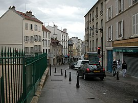 A road in the centre of Fontenay-sous-Bois