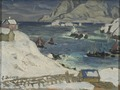 Running before the Storm. Study from North Norway (Anna Boberg) - Nationalmuseum - 21386.tif