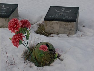 "Operation Silver Fox - This grave at the ""Memorial for the Defenders of the Soviet Arctic"" on the Litsa River symbolizes the savagery of a 4 year long Arctic stalemate."