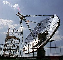 Solar thermal collector dish
