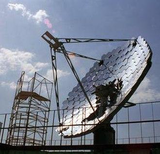 Solar thermal collector - Solar thermal collector dish