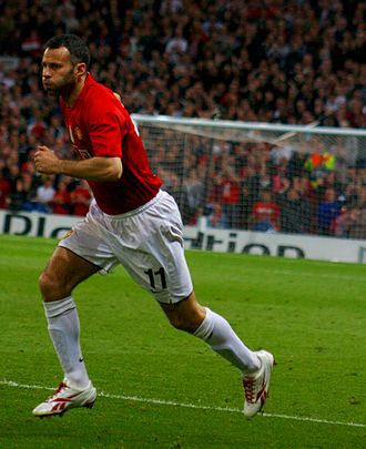 Reebok - Ryan Giggs in his Reebok Sprintfit football boots. The former Manchester United winger signed an endorsement with Reebok in the early 1990s