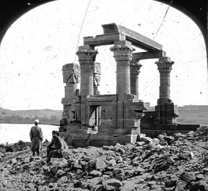 Kiosk of Qertassi - Egypt - Ketussi, Nubia. Brooklyn Museum Archives, Goodyear Archival Collection