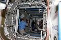 S130e007594 STS-130 Soichi Noguchi films Tranquility.jpg