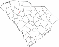 Location of Joanna, South Carolina.