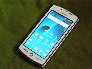 English: SHARP Smartphone SH-12C Front 日本語: AQ...