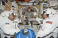 STS-130 Nicholas Patrick, Robert Behnken and Jeffrey Williams at Quest airlock.jpg