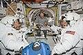 STS-130 Nicholas Patrick, Robert Behnken and Jeffrey Williams at Quest airlock.jpg