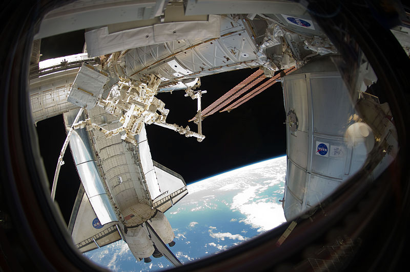 File:STS-133 ISS-26 Discovery, Dextre and PMM.jpg