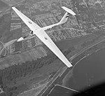 SZD-32 Foka-5 vitorlázó repülőgép. A háttérben a Szentendrei sziget, Surány térsége. Fortepan 9010.jpg