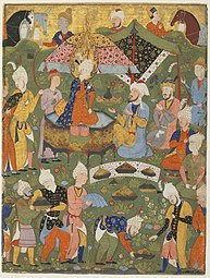 Safavid Dynasty, Joseph Enthroned from a Falnama (Book of Omens), circa 1550 AD.jpg