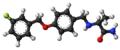 Safinamide molecule ball.png