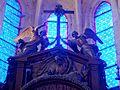 Saint-Prix (95), église Saint-Prix, retable du maître-autel, couronnement.JPG