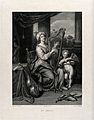 Saint Cecilia. Engraving by J. Bouillard after Dubois after Wellcome V0033440.jpg