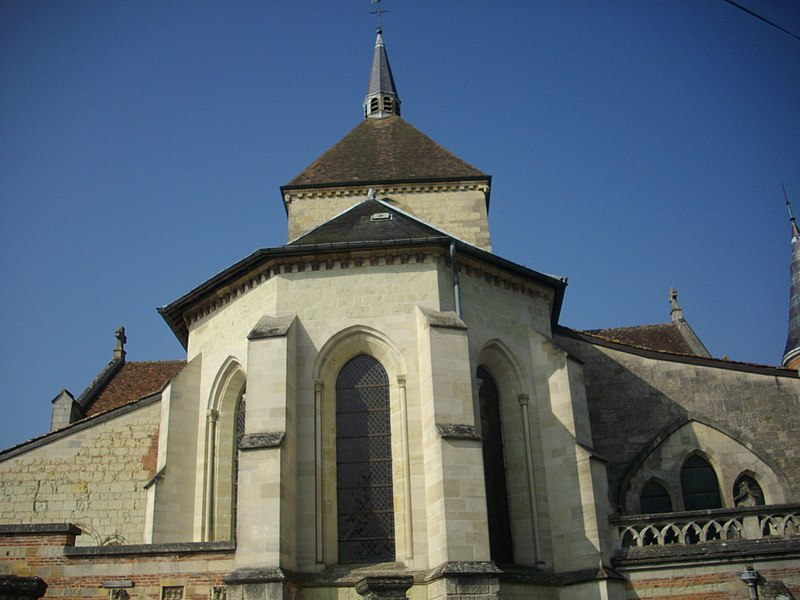 Our Lady church of Sainte-Menehould (Marne, France), apse