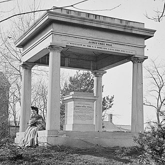 Sarah Polk Fall - Sallie at the Tomb of the president in 1864.