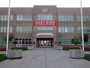 East High School (Salt Lake City) - East High School in July 2014