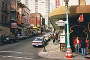 An intersection in Chinatown, San Francisco.