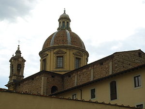 San Frediano in Cestello - Dome and bell tower of San Frediano.