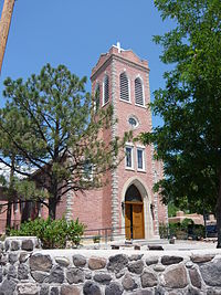 San Juan Bautista Church at Ohkay Owingeh Pueblo.JPG