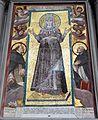 San marco, interno, mosaico dall'antica s. pietro in vaticano, tra santi di fabrizio boschi 01.JPG