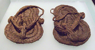 Sandal - Esparto sandals from the 6th or 5th millennium BC found in Spain.