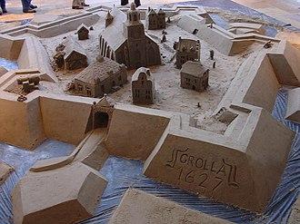 Siege of Groenlo (1627) - Sandcastle depicting Groenlo during 1627.
