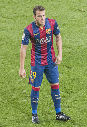 Sandro Ramírez - Sandro with Barcelona in 2014