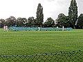 Sandwich Town CC mobile cricket pitch covers at Sandwich, Kent, England 01.jpg