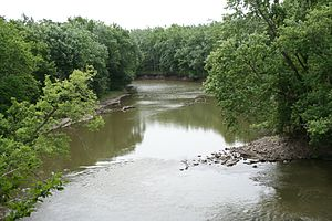 Sangamon River - Sangamon river at Lincoln Trail Homestead State Memorial.