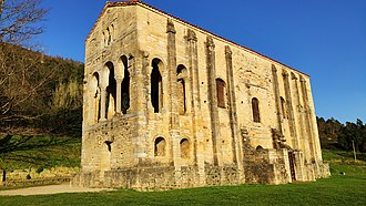 Pre-Romanesque art and architecture - The royal palace, later church, of Santa María del Naranco, an example of Asturian architecture of the Ramirense period.