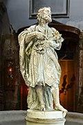 Santi Apostoli (Venice) - Statue Stoup of St.Peter by Heinrich Meyring 1701.jpg