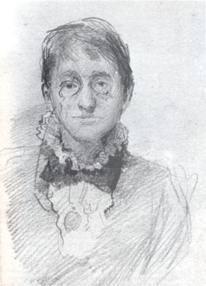 Sarah Purser - Portrait by John Butler Yeats, c. 1880–1885